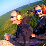 Baptême de l'air en ULM Paramoteur Skydancer, avec Air Sol Images, Vallée du Lot, Parc Naturel Régional des Causses du Quercy,