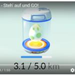 移動距離に応じて卵が孵化