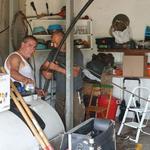 Handwerker bei den Arbeiten der Wasserversorgung