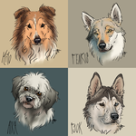 Hunde digital malen 2015