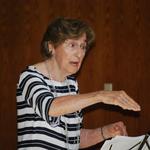 Marie Stricker, director of the Sacred Heart Church choir.