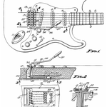 von Clarence Leo Fender [Public domain], via Wikimedia Commons | http://commons.wikimedia.org/wiki/File%3AFenderTremoloPatentDiagram.png