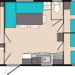 plan mobilhome 6 pers/3 chambres