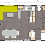 plan mobilhome 6 pers/ 3 chambres/ 2 salles de bain