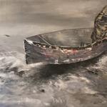 Heimfahrt, 2018, Acryl/LW, 40 x 50 cm
