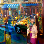 Ladurée - Huile sur toile - 162x114