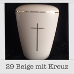 Urne mit Kreuz
