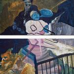 Diptychon, Öl/ Acryl auf Leinwand, 150 x 200 cm, 2013