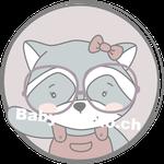 Waschbaer Mädchen emblem mit Brille (Daw140978639)