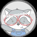 Waschbaer Bub emblem mit Brille (Daw140978639)