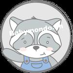 Waschbaer Bub emblem (Daw140978639)