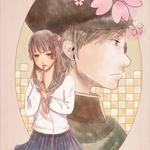 【千鶴子さんと恋の一年】2013年制作。ポスカ展参加作品。