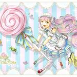 【キャンディーちゃん】2015年制作。ポケットランド&@games お菓子の国のお姫様アバター化イラコン参加作品。