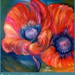Öl auf Leinwand / 80 x 80 cm