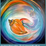 Meerjungfrau / Öl auf Leinwand / 80 x 80 cm