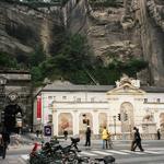 Die Pferdeschwemme, links der Neutor-Tunnel