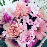 2017年3月 表参道&飯田1dayレッスン「さくら色のブーケ(生花)」