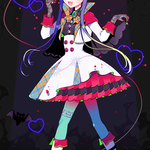 キャラデザイラスト:吸血鬼でアイドルな女の子