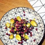Kohlsprossen mit Haselnüssen & Granatapfel
