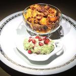 Süßkartoffelchips mit Granatapfel-Guacamole