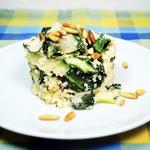 Blumenkohl-Risotto mit Mangold & Pinienkernen