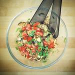 Mediterraner Auberginen Salat