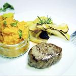 Steaks mit Kohlrabi-Chips & Süßkartoffel-Pürree