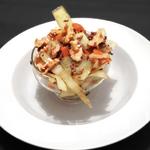 Warmer Krautsalat mit Rindfleisch und Walnüssen