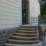 Sandsteintreppe zum Haupttür zum Nordansicht