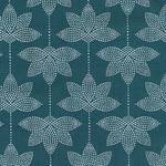 besch. Baumwolle AU Maison - Design: Lotus - Farbe: petrol