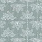 Baumwolle - Au Maison - Design: Lotus- Farbe: verte