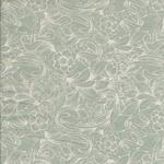 besch. Baumwolle AU Maison - Design: Caroline / 2farbiges Blumenmuster - Farbe: verte