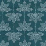Baumwolle - AU Maison - Design: Lotus - Farbe:  dusty petrol - AUSVERKAUFT