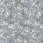 Baumwolle - Au Maison - Design: Amalie (Kirschblüten-/zweige) - Farbe: dusty blue