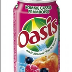 oasis pomme csis framboise 33cl :1€