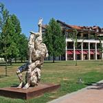 Statua nel Parco Urbano Termale