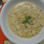 Apfel-Lauch-Suppe