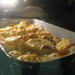 Kartoffelgratain mit Äpfeln