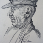 1958, Mann, 40 x 60, Kohlezeichnung
