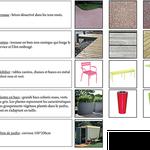 Senlis - Palette des matériaux et mobilier