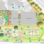 Versailles - Plan masse  - Photoshop avec incrustation de textures manuelles