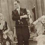 Mieczysława Ćwiklińska Aleksander Żabczyński i Tola Mankiewiczówna w filmie Pani minister tańczy 1937