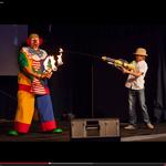 Feuerjonglage - Clown Ferdi aus Sachsen - Kinderunterhaltung