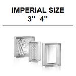 Glass Blocks Imperial Size // 883 // 683 // 663 // 483 Clarity nubio DM Ice Aktis alpha Zoll Glasbausteine Glasstein Briques de verre France Luxemburg Österreich Schweiz Deutschland US 19,7x19,7 14,6x19,7 14,6x14,6 9,8x19,7 Danmark glas blok