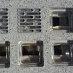 Alu Aluminium Lüftungsgitter 114x114x60 - 11,4x11,4x6 cm Massive Lichtschachtabdeckungen aus Glasstahlbeton Kellerschachtabdeckung  Glasbausteine-Center Betongläser  Lüftung Glasdecke Glasbaustein Decke Pavers Paves Glass Block Briques verre