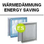 Wärmedämmung Energy Saving ES U-Wert 1,5 W/(m²x K) 1,8 Thermal Glass Blocks Glasbausteine-center Glasstein Pegasus Glasbaustein HTI Solaris Q19 Farbe Wolke isolation energie briques de verre Österreich Schweiz France Belgique Luxemburg Thermal Insulation