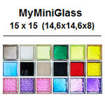 MyMiniGlass MINI MG/s 14,6x14,6x8 Q15 15x15 Glasbausteine Glass Blocks Briques de verre Classic daredevil vegan sophisticated very natural romantic Österreich Schweiz France Nederland Glazen Blokken Danmark glasblokke glasbausteine-center Glasbaustein MG