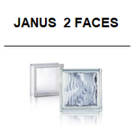 Janus 2 two faces glasbausteine glasstein glass blocks 1919/8 Cloudy C+Y Storty W+H Frozen D+W Glasbausteine-center Glasbausteine-center Glasbausteine-center briques de verre france österreich Deutschland solaris