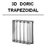 3D DORIC Neutro MET SAT Trapezoidal glasbausteine-center Glasbausteine glassteine glass blocks luxus diamant clear metall diamond silber glasbaustein 19x19 33x33 Österreich Schweiz Belgique Suisse Nederland France denmark dansk Luxembourg Luxemburg Glazen