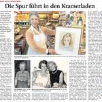 2011, Zeitungsartikel über Familie Deman 1942-1950 in Rottach-Egern im Münchner Kurier